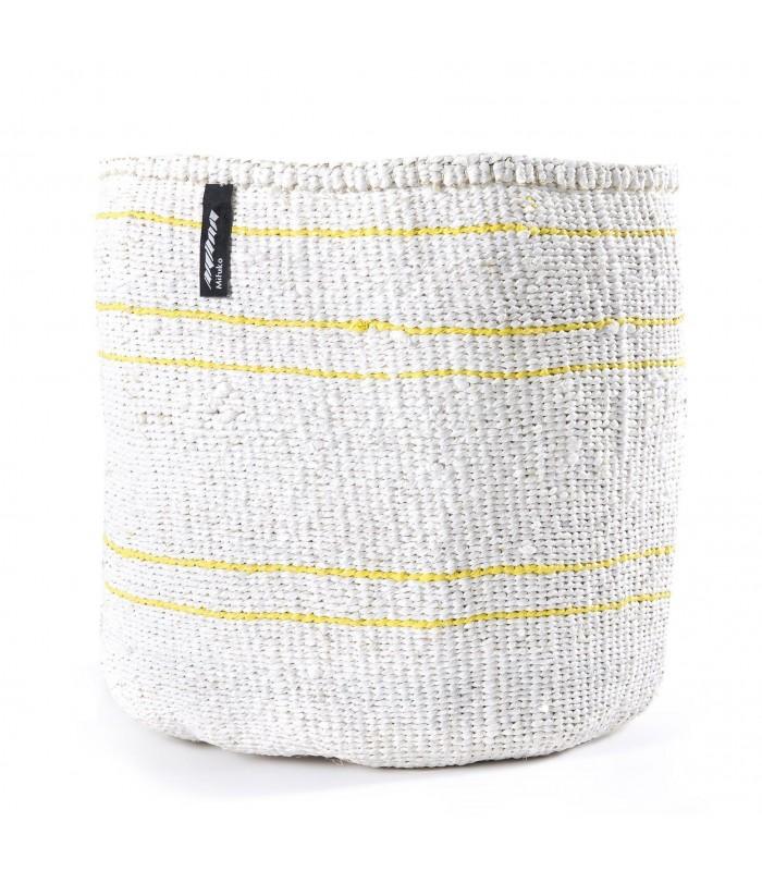 White Basket - Thin Yellow Line