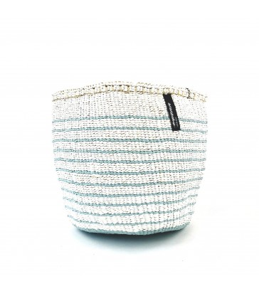 Small Storage Basket - Blue/White stripe