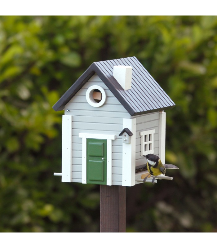 Grey Cottage Bird Feeder & Nesting Box