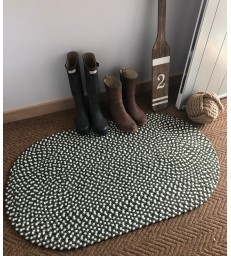 Olive Green Recycled Rug -  61x91