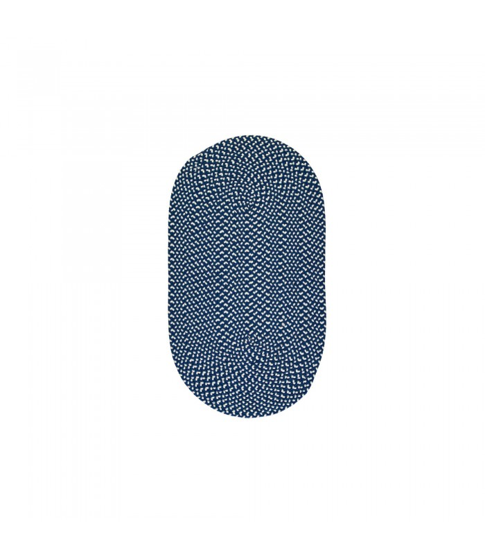Small Navy Recycled Rug - 61x91cm