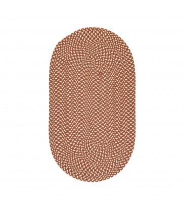 Terracotta Recycled Rug - oval eco friendly floor rug