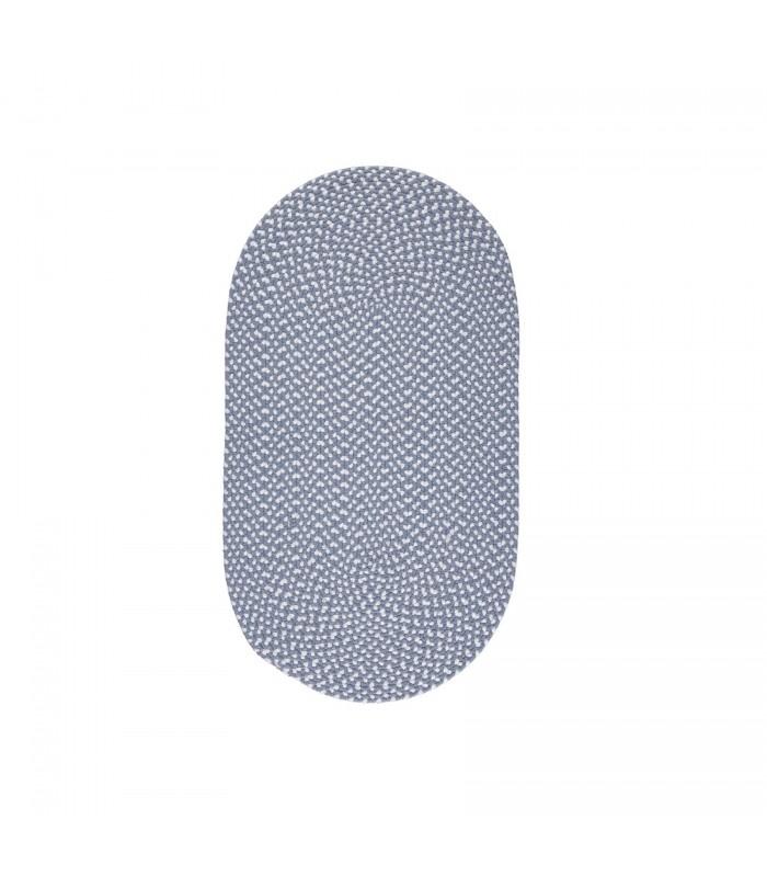 Sky Blue Recycled Rug - medium oval eco friendly floor rug