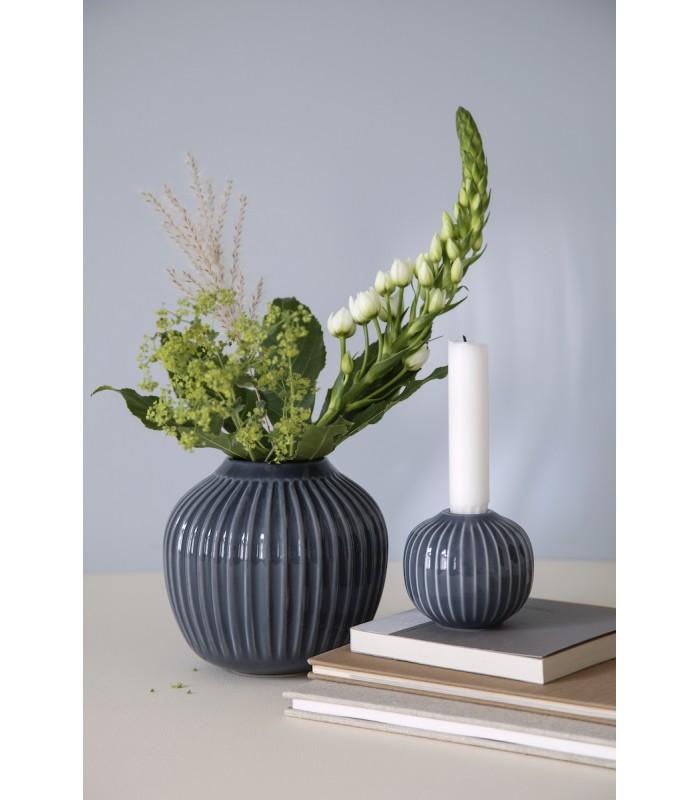 Grey Ceramic Vase 13cm high