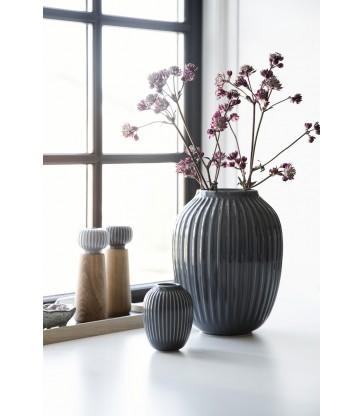 Dark Grey Vase 21cm high