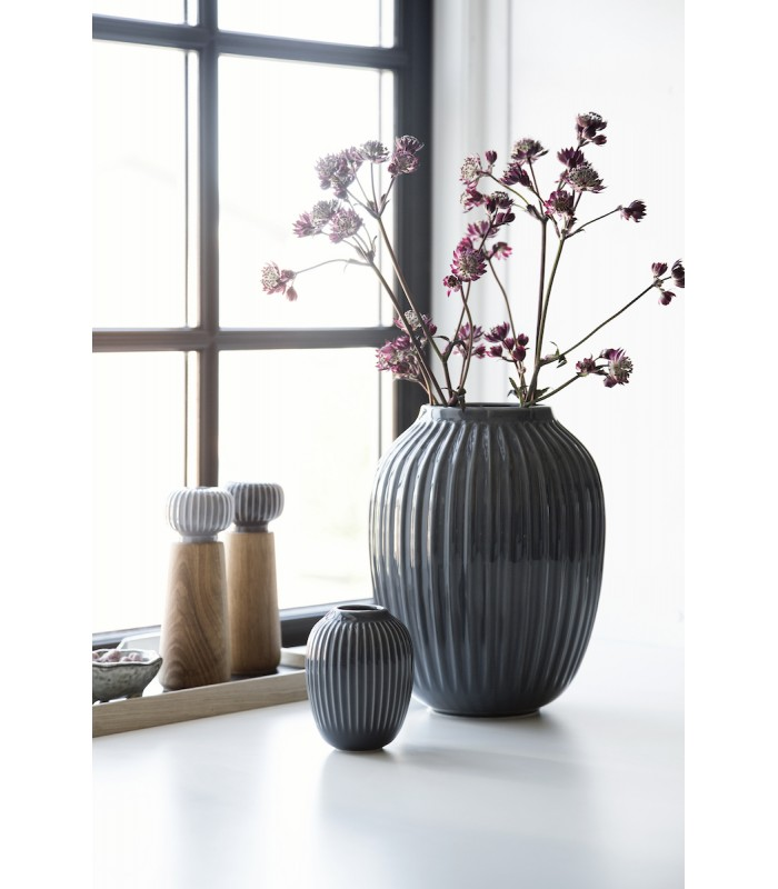 Tall Dark Grey Vase 25.5cm high