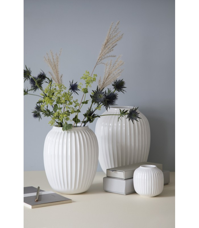 White Gloss Ceramic Vase