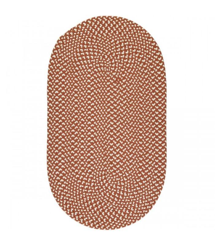 Terracotta Recycled Rug - long hall floor rug