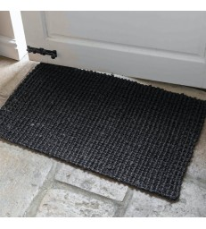 Black Jute Door Mat