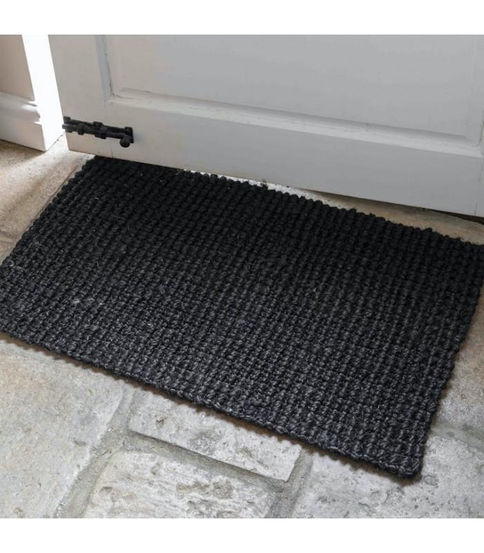 Black Jute Door Mat