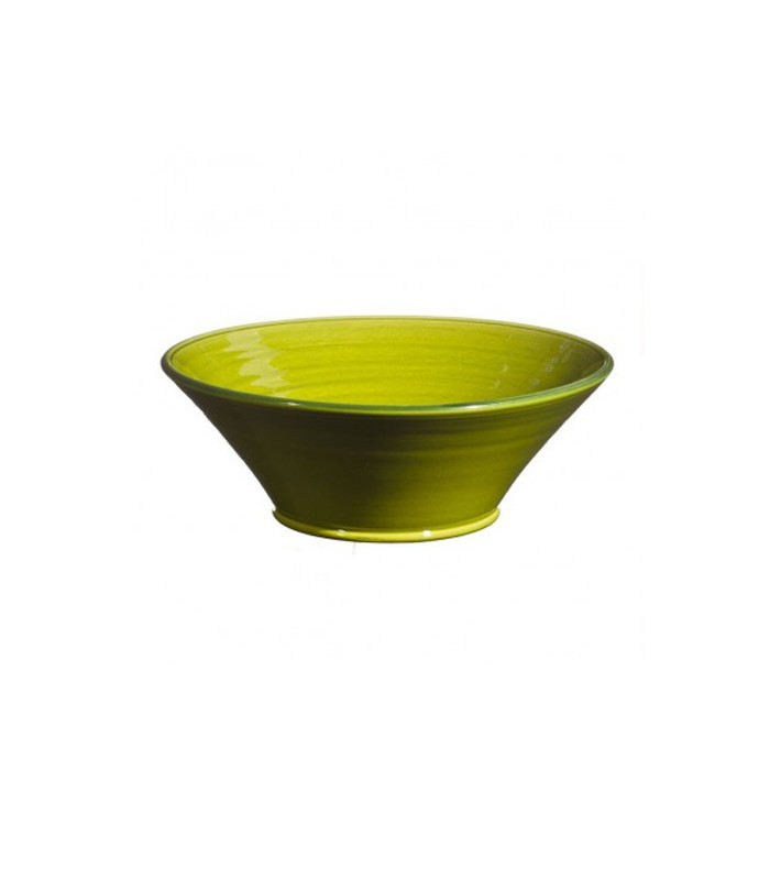 Large Flared Bowl Apple Green