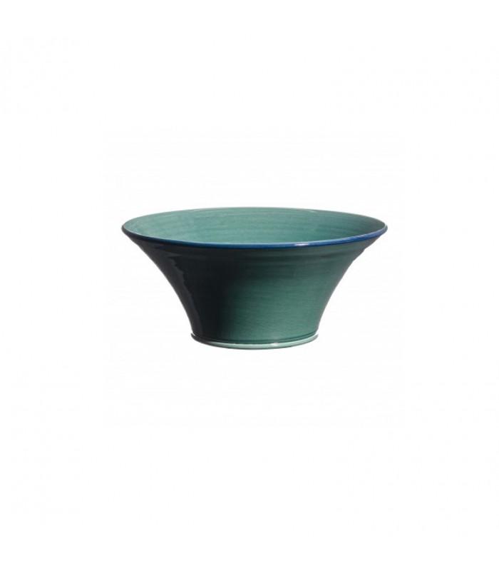 Medium Flared Bowl Blue Green