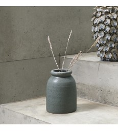 Small Green Stoneware Vase