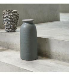 Tall Green Stoneware Vase
