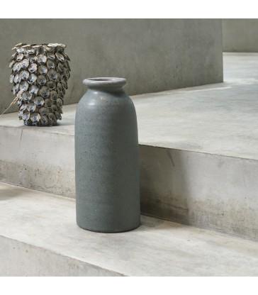 Tall Green Stoneware flower Vase