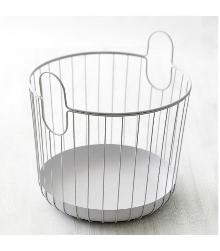 Pale Grey Wire Storage Basket