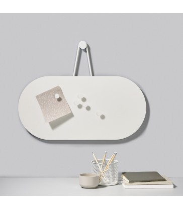 white bulletin board for your home office organisation