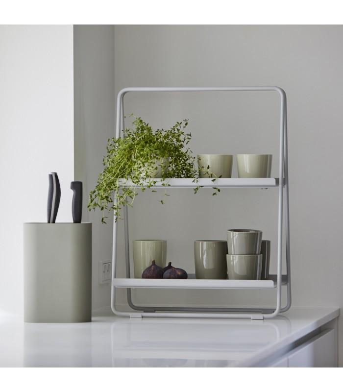 small countertop a frame shelf