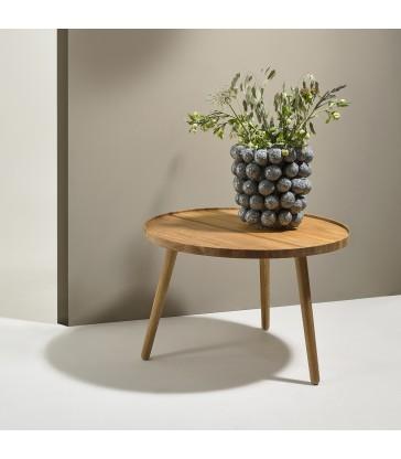 round oak side table for living room furniture