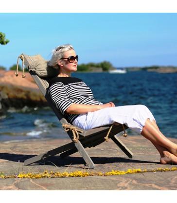 Eco Chair - Grey Pine with headrest