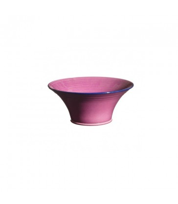 small raspberry purple ceramic bowl