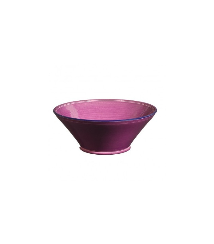 Large Flared Bowl Raspberry
