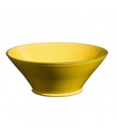 Large Flared Bowl Yellow