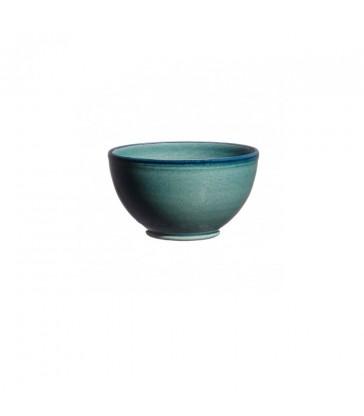 Round Ceramic Bowl Blue/Green marine green