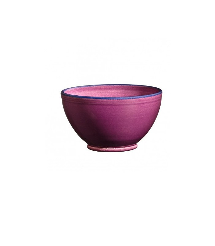 Round Ceramic Bowl Raspberry