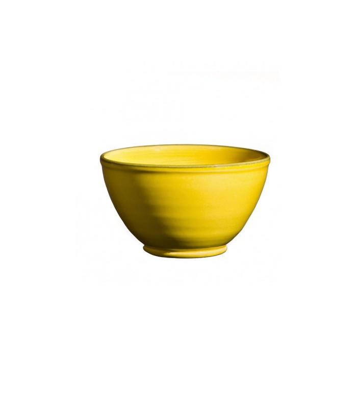 Bright yellow Round Ceramic Bowl