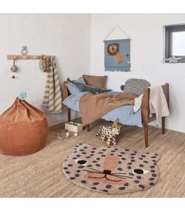 leopard kids room floor rug