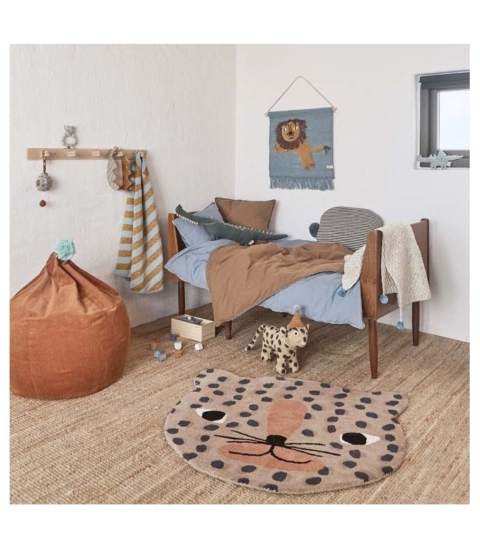leopard kids room floor rug