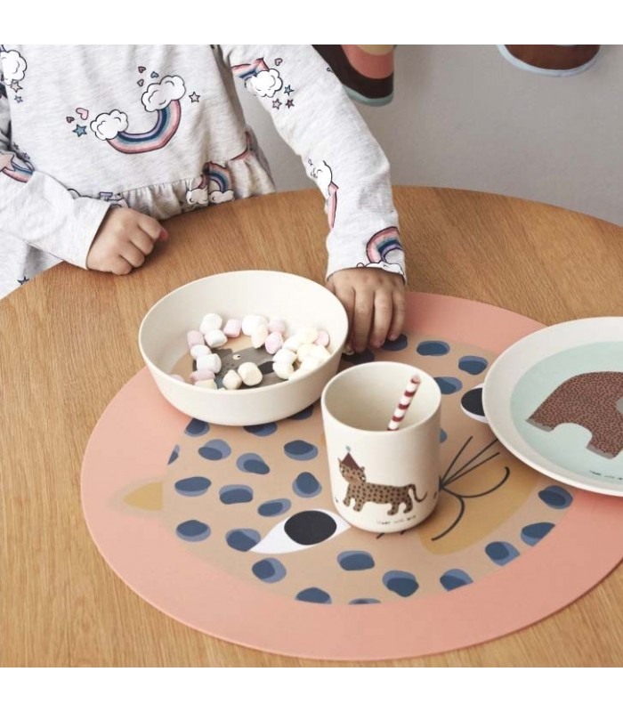 leopard silicone place mat for children