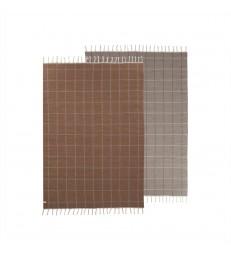 Reversible Floor Rug Caramel/Off White