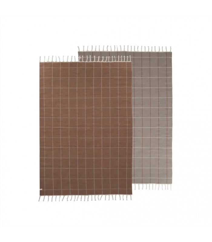 Reversible Floor Rug off showing both sides
