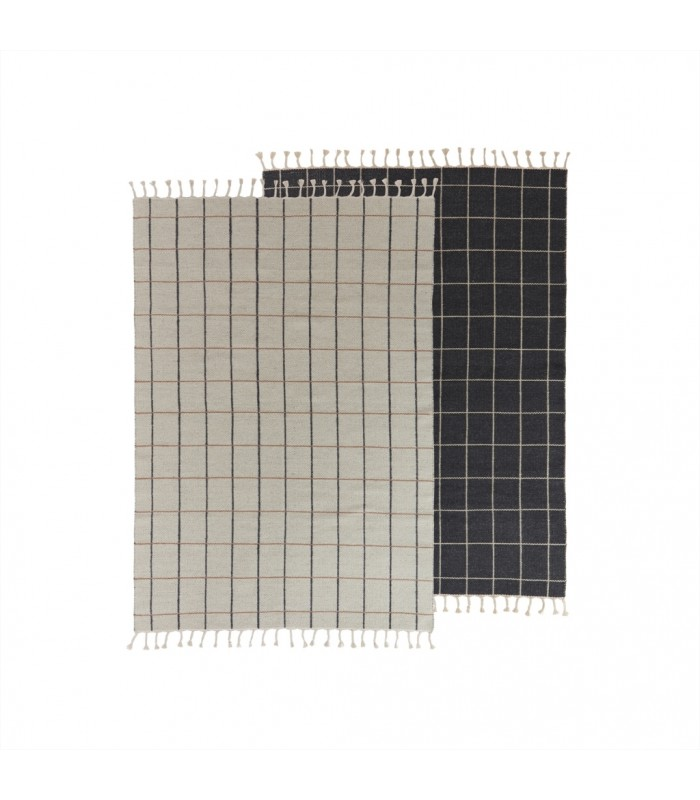 Reversible Floor Rug Off White/Anthracite