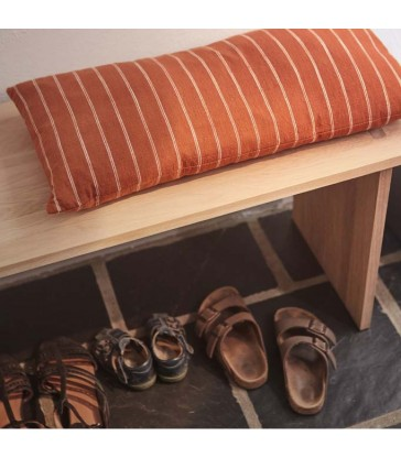warm sienna brown cushion ochre