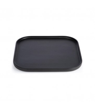 Large Black Rectangular Tray