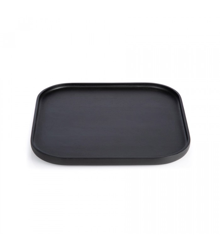 Large Black Rectangular Tray