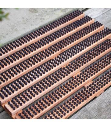 Small Doormat Shoe Scraper - Brown