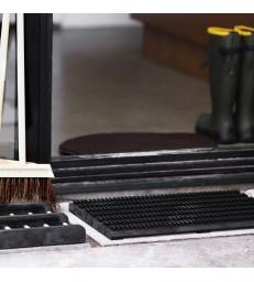 Small Doormat Shoe Scraper - Black