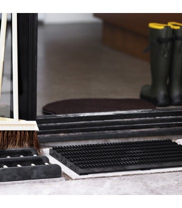 Small Doormat Shoe Scraper - Black