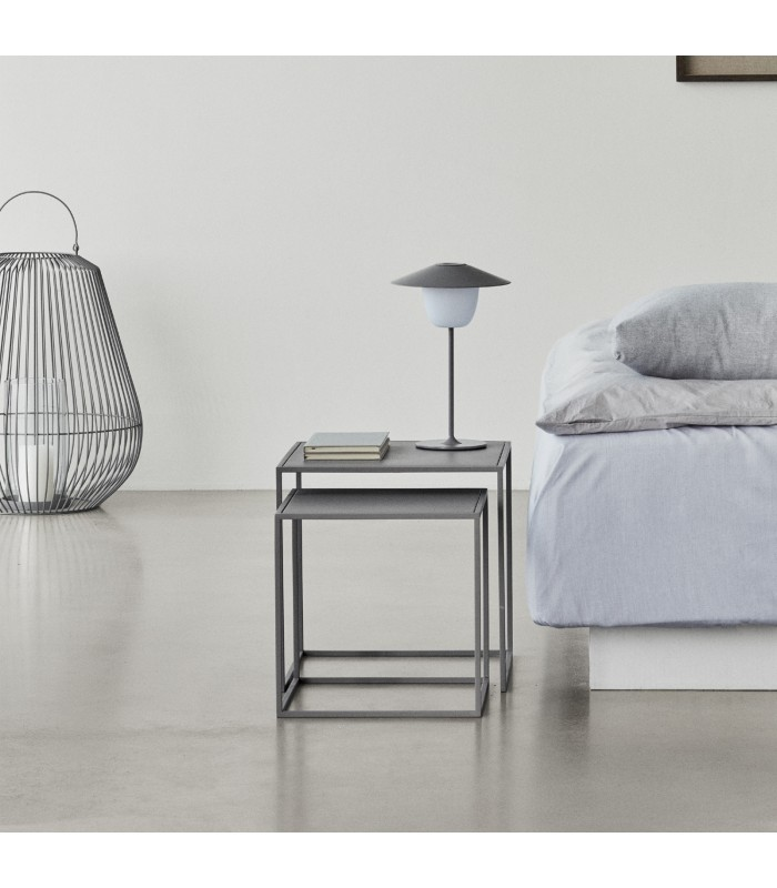 Nesting Coffee Tables in Grey - Set of 2