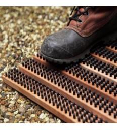 Large Doormat Shoe Scraper - Brown