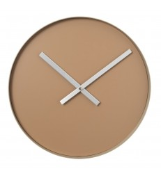 Minimalist Wall Clock - Tan Brown