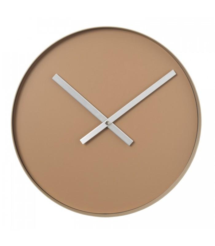 Minimalist Wall Clock - Tan Brown