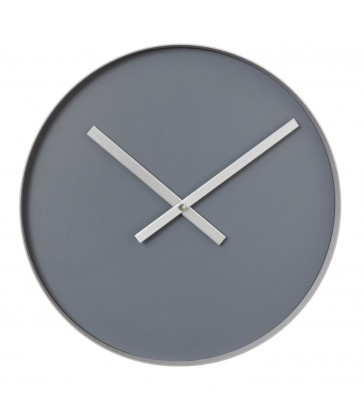 Minimalist Wall Clock - Steel Grey