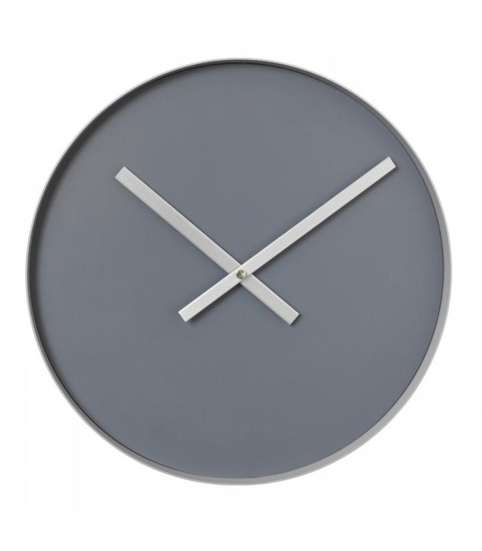 Minimalist Wall Clock - Steel Grey