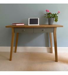 Oak Desk or Dressing Table - Grey