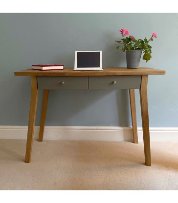 Oak Desk or Dressing Table - Grey